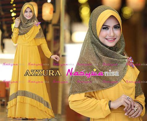 Azzura Syar I by Azzura Kuning Kunyit Baju Muslim Gamis Modern