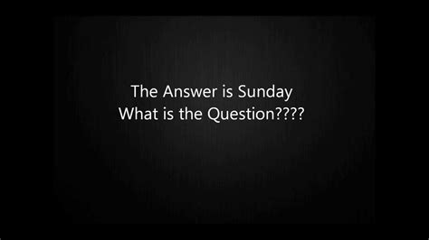 what is s day about what s the question sunday s day radio phone