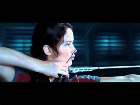 first hunger games clip katniss shoots arrows for