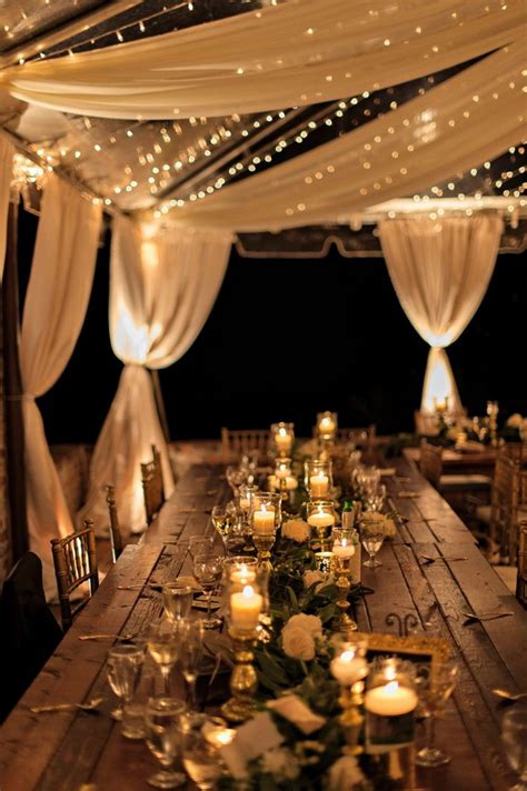 30 Creative Ways To Light Your Wedding Day Tulle Wedding Lights
