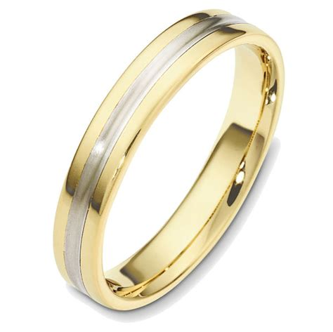 48543 two tone classic wedding ring