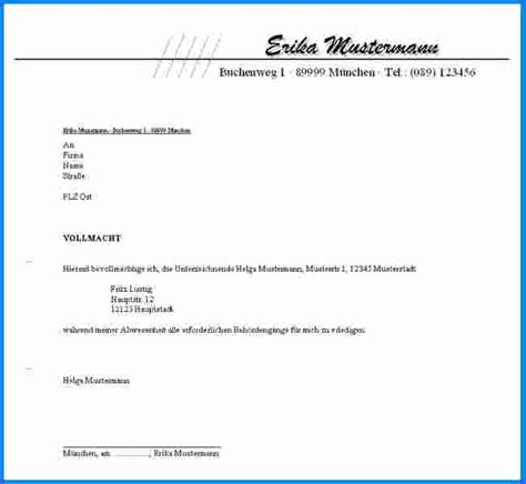 Vollmacht Schreiben Muster Pdf Vollmacht Muster Invitation Templated
