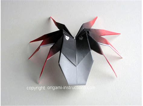 How To Make Spider Origami - animals origami 3d spider origami paper origami guide
