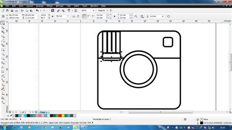 tutorial instagram untuk pemula tutorial membuat logo instagram menggunakan corel draw
