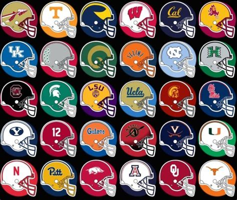 college football colors the top 10 most iconic college football helmet and logo