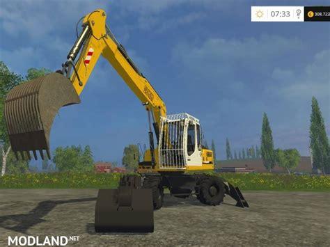 Caterpillar Cat Nh Lack Yellow liebherr 900c litronic mod for farming simulator 2015 15