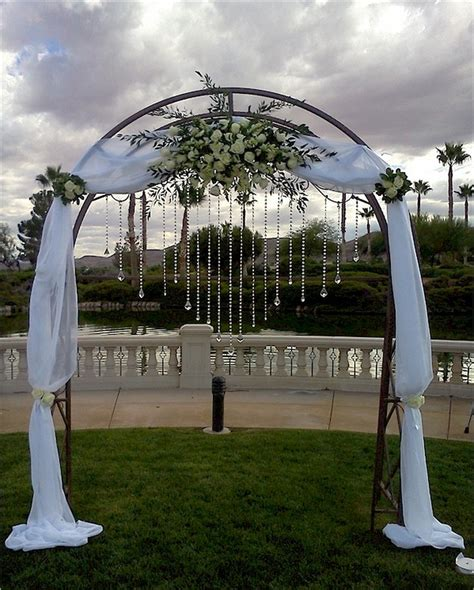 arch with jewelry wedding florist for las vegas nv - Wedding Arch Las Vegas