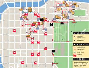 chicago pedway map interactive pedway map where to eat drink shop without