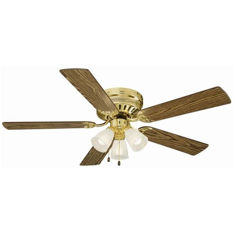hugger style ceiling fan design house millbridge 52 in polished brass hugger