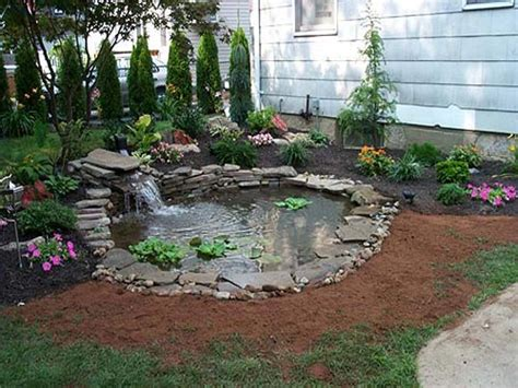 Backyard Pond Landscaping Ideas Small Yard Ponds Small Backyard Makeovers Small Back Yard Landscaping With Pond Interior