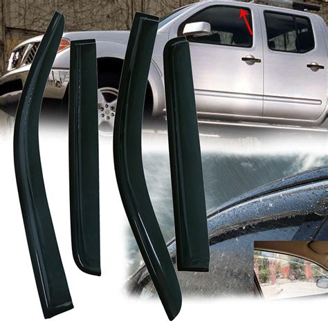 automotive air conditioning repair 2009 nissan frontier windshield wipe control window shades visors rain guards deflector fit nissan frontier crew cab 05 16 ebay