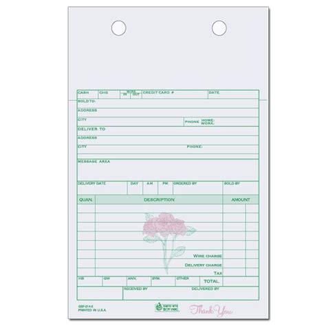 florist invoice template product details designsnprint