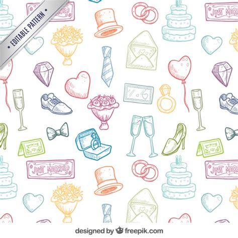 freepik wedding pattern hand drawn wedding pattern vector free download