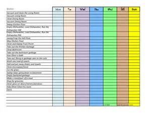 family chore chart template downloadable family chore chart template view size