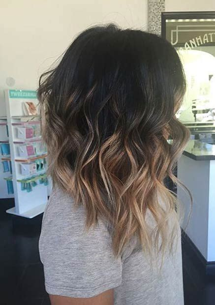 Ombre Bob Hairstyle by 10 Lob Haircut Ideas Popular Haircuts