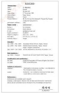 Cv Resume Example by
