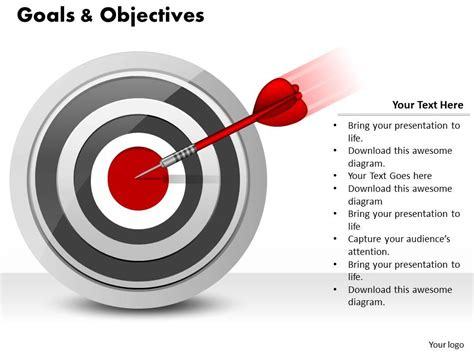 templates for business objectives goals and objectives powerpoint template slide