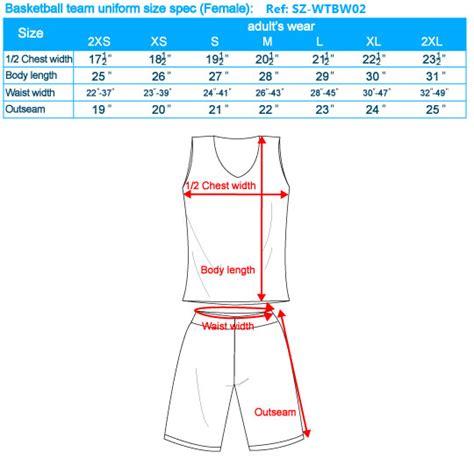 Basketball Jersey Sizes Chart Basketball Jersey Youth
