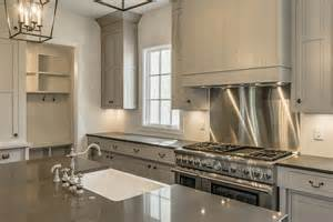 Shiplap Kitchen Backsplash Gray Shiplap Kitchen With Stainless Steel Cooktop