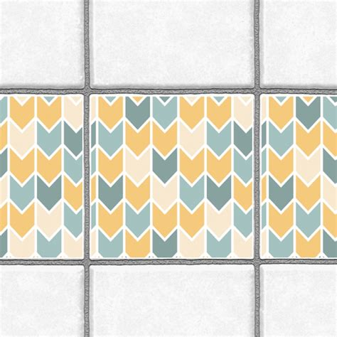 Kitchen Backsplash Tile Stickers Decorative Tiles Stickers Chevron Pattern Pack Of 16