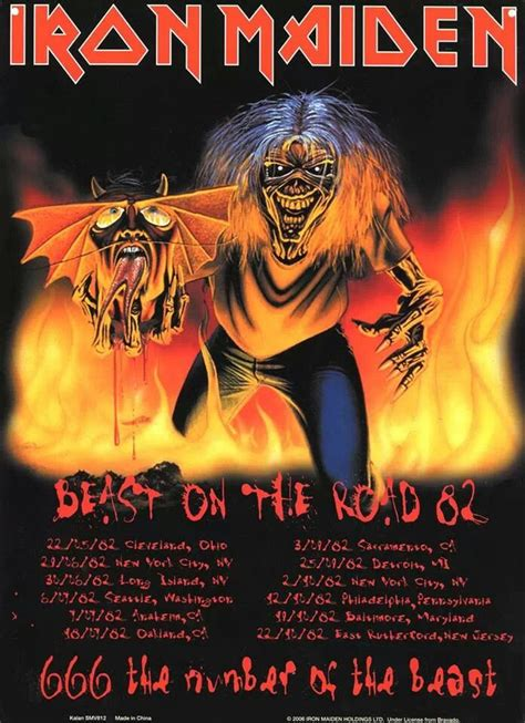 road beast the beast on the road iron maiden the beast
