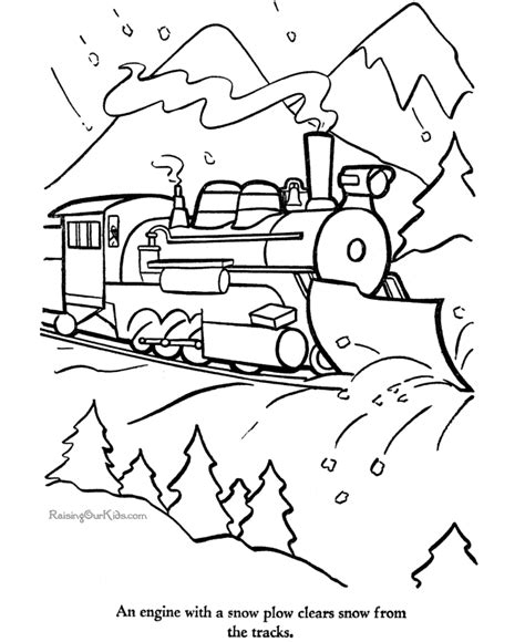 printable coloring page of a train train printables 009