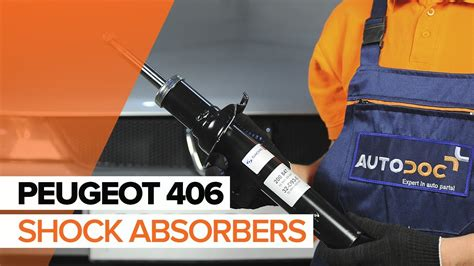 how to replace a front shock absorbers on peugeot 406 tutorial autodoc