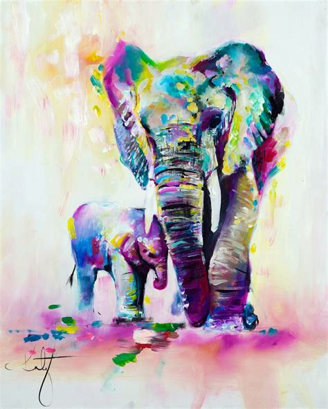 25 best ideas about elephant paintings on elephant colorful elephant and oleo