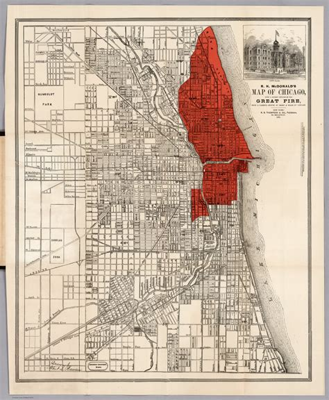 chicago 1871 map map showing the extent of the great chicago maps