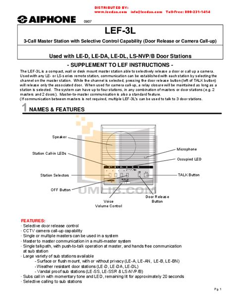 aiphone lef 3l wiring diagram 29 wiring diagram images