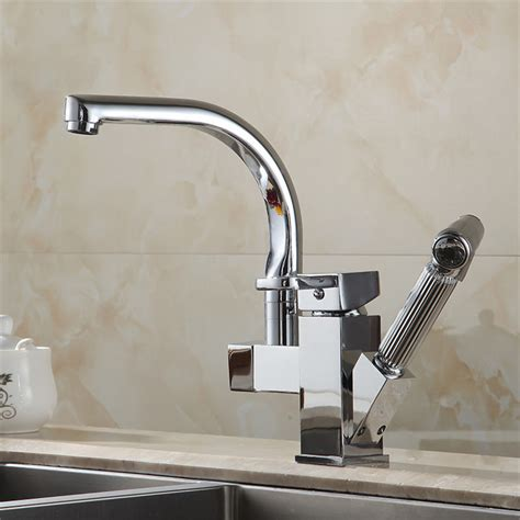 kitchen sink faucets with sprayers hemmed chrome kitchen sink faucet with pullout sprayer
