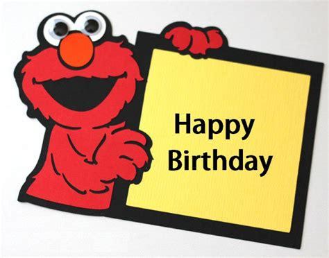 personalised elmo birthday card happy birthday wishes with elmo