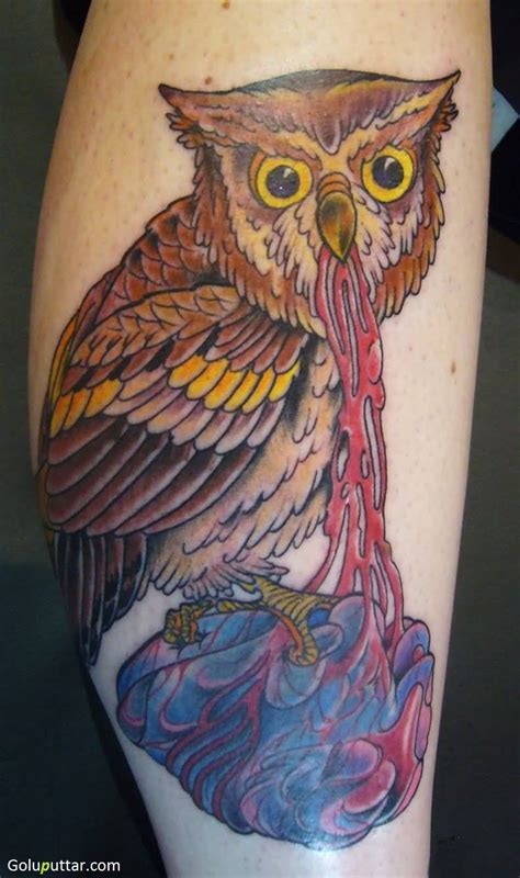 cartoon owl tattoo animated owl tattoos