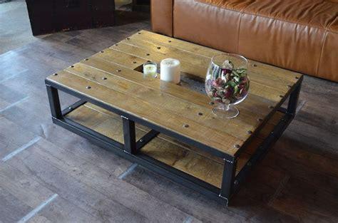 roulettes table basse table basse style industriel 224 roulettes fabrication artisanale et sur mesure micheli design