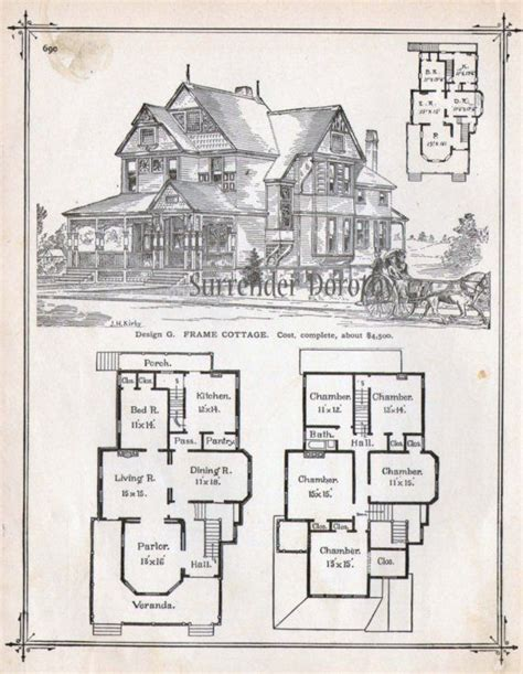 queen anne house plans historic frame cottage house plans 1881 antique victorian