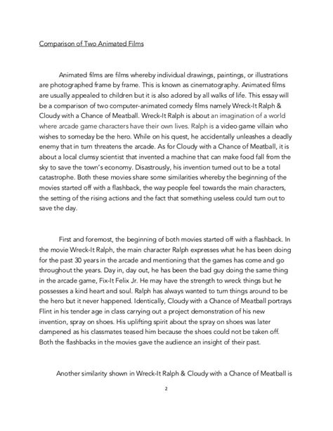 compare and contrast essay sle pdf compare contrast essay pdf