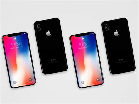 iphone front iphone x front back mockup mockupworld