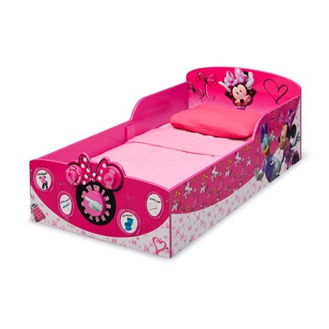 minnie mouse bed delta children minnie mouse toddler bed reviews wayfair
