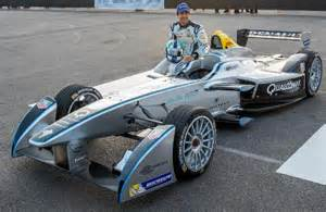 new 2014 car racing formula e car dazzles las vegas