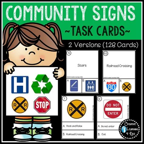Survival Signs Worksheets by Community Signs Task Cards Survival Signs Digital