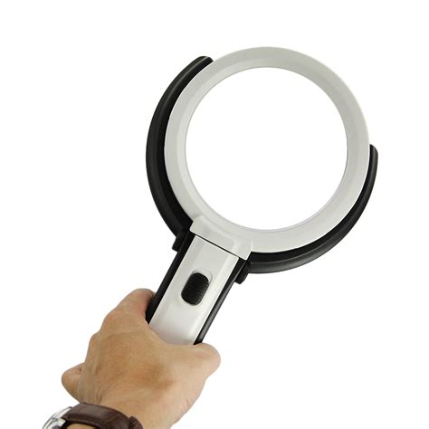 How To Make A Magnifying Glass Out Of Paper - 10 led light foldable magnifier led table desk type