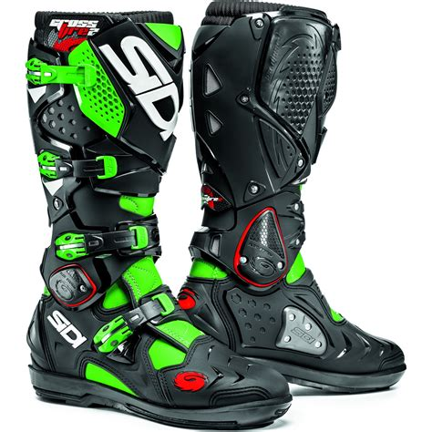 green motocross boots sidi crossfire 2 srs motocross boots dirt bike enduro moto