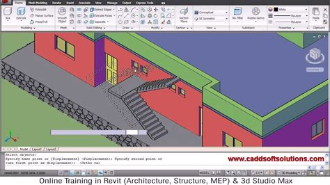 tutorial video autocad 3d autocad 3d house modeling tutorial 7 3d home 3d