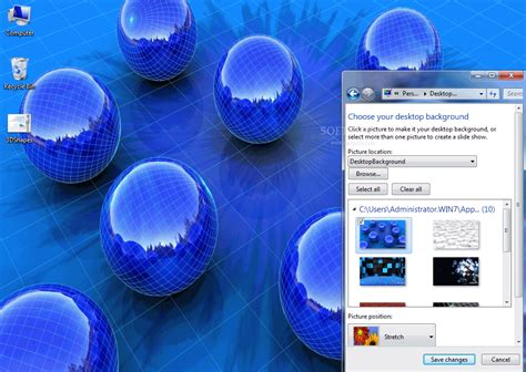 get themes pc 3d shapes windows 7 theme download
