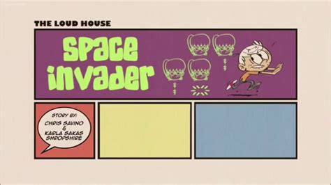 The Loud House Title Card Template by Loud House Space Invader Title Card Theme