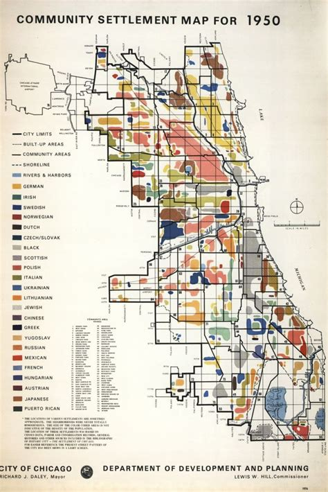 city of chicago zoning map chicago community settlement map 1950 chicago