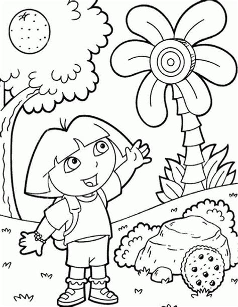 Free Printable Dora The Explorer Coloring Pages For Kids Coloring Pages The Explorer