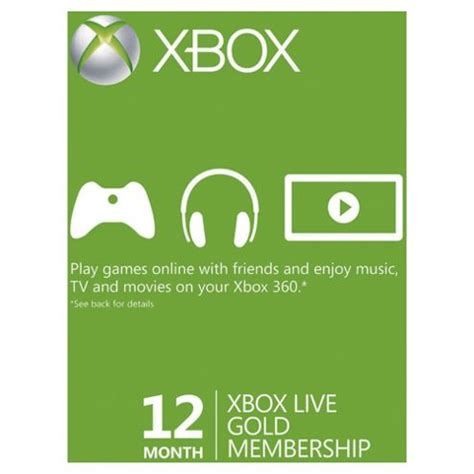 Xbox Live 12 Month Gold Membership Gift Card - buy xbox live 12 month gold membership card from our points cards subscriptions