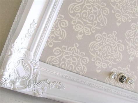 magnet board shabby chic grey damask vintage wedding frame