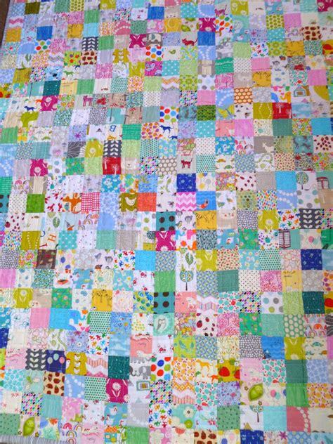 Square Patchwork Quilt - stitch and pieces squares patchwork quilt a